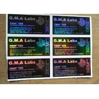 Buy cheap Black GMA Labs 10ml vial labels DECA/ TEST E 300 Laser  Vial Stickers from wholesalers