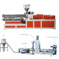 Buy cheap High Capacity Plastic Dual Screw Extruder With Water Ring Pelletizing System product