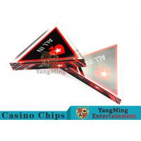 Buy cheap Unique Style Casino Game Accessories , Triangular Shape Poker Playing Cards  product
