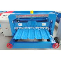 Buy cheap 45# Steel Roof Glazed Tile Roll Forming Machine With Chrome Plated product
