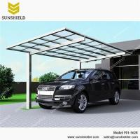 China Aluminum Carport Sheds with Transparent Flat Top/F01-5628/Gazebos & Canopies on sale