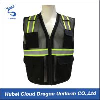 Cheap Sleeveless Reflective Tape Security Guard Vest 100% Polyester OEM & ODM wholesale
