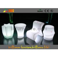 Buy cheap Polyethylene Bar Furniture LED lighting bar stools With Wireless Remote Control product
