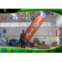 Buy cheap Feather Shape Orange Outdoor Flag Banners with Ground Spike Convenient Operation product