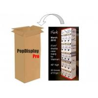 Buy cheap Corrugated 5 Shelf Paper Display Stand Retail POS Displays for iFork Tablewares product