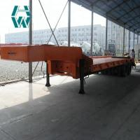 Buy cheap 100 Ton Low Bed Vehicle / Power Station Double Line Low Flatbed Trailer product