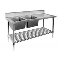 Buy cheap Restaurant Prep Table With Sink 1 / 2 / 3 Sinks Stainless Steel Sink Table product