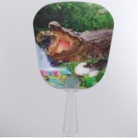 Quality Custom Printed 0.6mm PET 3D Lenticular Hand Fans / 3D Lenticular Printing for sale
