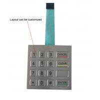 Buy cheap IP65 Dynamic 0.45mm Stroke FFC Cable Metal Numeric Keypad product