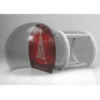 Buy cheap Custom Backdrop Inflatable Christmas Photo Snow Globes With Tunnel product