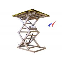 Buy cheap Skidproof Workshops Fixed Scissor Lift 5000 Kg Load With 0.75 - 7.5Kw Motor Power from wholesalers