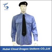 Cheap Soft CVC Twill Security Guard Uniform Shirts / Long Sleeve Dress Shirt , OEM / ODM Service wholesale