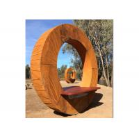 Buy cheap Forging Bench Design Corten Garden Sculpture For Decoration , ODM Available product