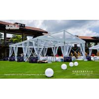 Buy cheap 200-300 People Waterproof Clear Party Tent with Clear Top for Outdoor Parties from wholesalers