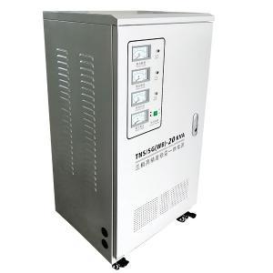 Buy cheap Three Phase 50-60 Hz 20KVA Full Auto Servo Motor Type AC Regulating Voltage Transformer product
