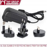 Buy cheap 9V 11w Wall Mounted AC Changeable Power Adapter 1200MM Dc Line product