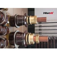 Buy cheap Outdoor Porcelain High Voltage Transformer Bushings Brown Color 1kV 2000A product
