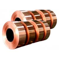 China Electronic Copper Strips , Long Length Copper Tape For Power Cable on sale