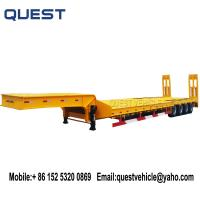 Buy cheap 4-axle 80 tons lowloader excavator transport low bed trailer product