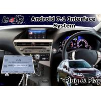 Buy cheap Android 7.1 Video Interface for 2012-2015 Lexus RX 270 Mouse Control , GPS Navigation product