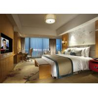 Buy cheap Fashion Double Bed Commercial Hotel Bedroom Furniture Shiny Finished product