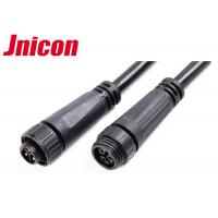 Buy cheap 300V 10A Waterproof Cable Connector Male Female Over Molding With Screw Locking product