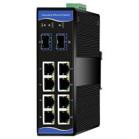 Buy cheap 10/100/1000M 8-port PoE and 2-port 100/1000M SFP Industrial Ethernet PoE Switch from wholesalers
