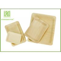 Buy cheap Customized Printed Disposable Wooden Plates Wooden Serving Trays For Hotel product