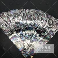 China Heat Transfer Printing Nail Art Decorations Holographic Laser Snake Skin Flower on sale