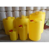 Buy cheap Rotomolding Round Plastic chemical dosing tank with mixer volum  100L 200l 300L 500l 1000L 2000L product