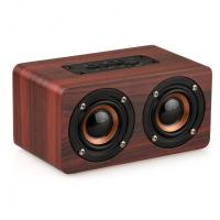 Buy cheap Retro Wood Bluetooth Speaker Wireless Speaker Support AUX TF Card for Smartphone from wholesalers