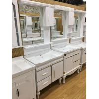 Buy cheap Floor Mounted PVC Bathroom Washbasin Cabinet With Painting ISO Standard 80cm from wholesalers