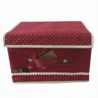 Buy cheap Foldable Storage Box with Lids, Ears, Various Colors and Sizes Available, Used for Sundries product