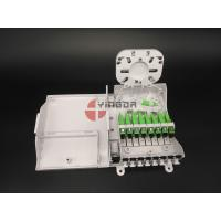 China Indoor FTTH CPE Optical Fiber Cable Junction Box with 1:8 Splitter SC G657A2 Corning LSZH on sale
