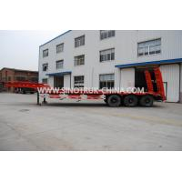 China 3 Axles 80 Tons 17m Hydraulic Flatbed Trailer 12 Wheels Loading Construction on sale