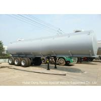 China Steel Lined PE Road Chemical Tank Trailers For Transport Bleach , Hydrochloric Acid on sale