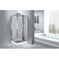 Buy cheap Square 900 X 900 Bathroom Shower Cabins White ABS Tray Chrome Profiles product