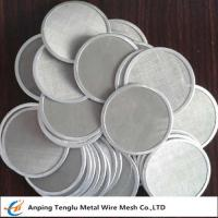 Buy cheap Single Layer Filter Net Piece|SUS304 Wire Mesh Filter Disc 12x64mesh product