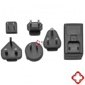 Buy cheap 36W Max Interchangeable Plug Medical Power Adapters, IEC60601 24V 12V Medical Power Supply product