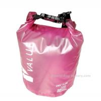 Buy cheap 5L  Light-weight Outdoor Waterproof Dry Bags with Silk-screen Print Pink product