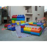 Buy cheap Commercial grade 0.55mm PVC tarpaulin Inflatable Soccer Fields Inflatable Sports Games product