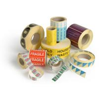 Buy cheap round adhesive sticker for clothing product