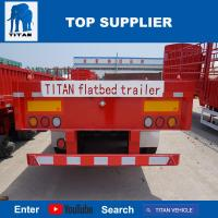 Buy cheap TITAN VEHICLE 40 ft flatbed truck trailer with 3 axle product