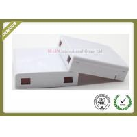 China Optical Socket FTTH Distribution Terminal Box Wall Plate Outlets 2 Port on sale