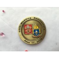 Buy cheap Customized gold plated antique old metal round challenge coin product