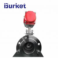 China China Burket Aluminum pneumatic actuator Operated Flanged Ball Valve in stock for dyeing machine on sale