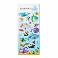 Buy cheap 3D Blister Hologram Shark Octopus Sea World Educational Game Stickers Size 18*9.5*2cm Seasonal Promotion Gift Products product