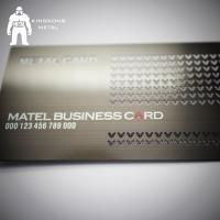 Buy cheap Metal Card Factory Supply Custom Logo Gun Plated Stainless Steel Metal Business Card product