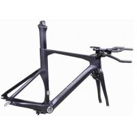 Buy cheap Di2 Compatible Carbon Triathlon Bike Frame 700C BSA / BB30 For Racing TT Bicycle product