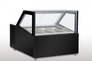 Buy cheap Counter Top Gelato Showcase Ventilatioin Cooling -16 to -20 degree 3 or 4pcs 5L Gelato Pan product